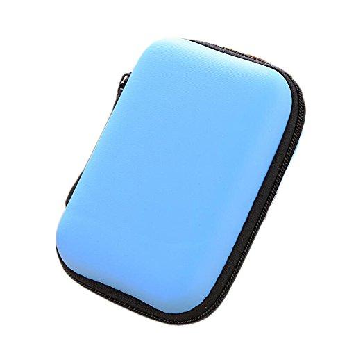 Ipod Nano In-ear-headset (Dosige Kopfhörer Tasche Earphone Case Aufbewahrungstasche für Headset/In Ear Ohrhörer/ MP3 Player/iPod/Nano/Schlüssel Blau)