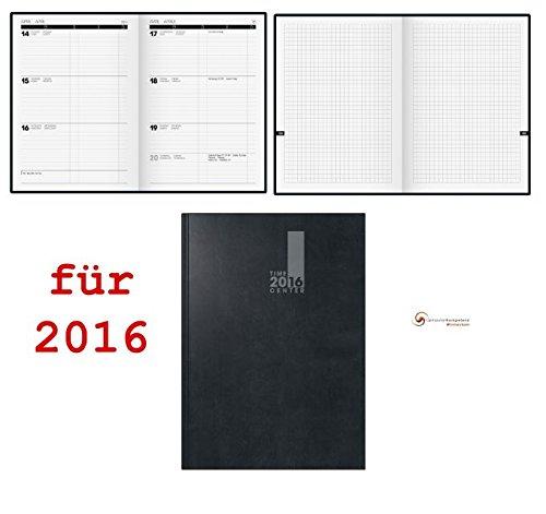 Brunnen TimeCenter 2016 A5 Buchkalender + Notizen 1Wo.=2Seiten Kalender 2015 -