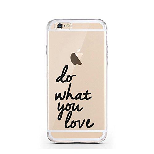 iPhone 7 Hülle von licaso® für das Apple iPhone 7 aus TPU Silikon Can't Stop thinking about it - BUY it Fashion Design Muster ultra-dünn schützt Dein iPhone 7 & ist stylisch Case Design Schutzhülle Bu Do what you Love