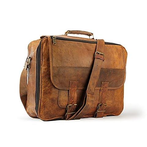 A.P. Donovan - Reise-Leder-Tasche klein, geeignet als Handgepäck (Weekender, Travel,