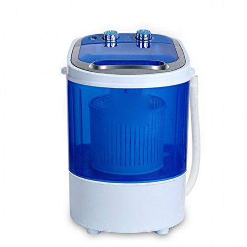 GCCI Mini Waschmaschine Kleine Baby Kind Single Barrel Cracked Lek Verlassen mit Dip Dry,Blau
