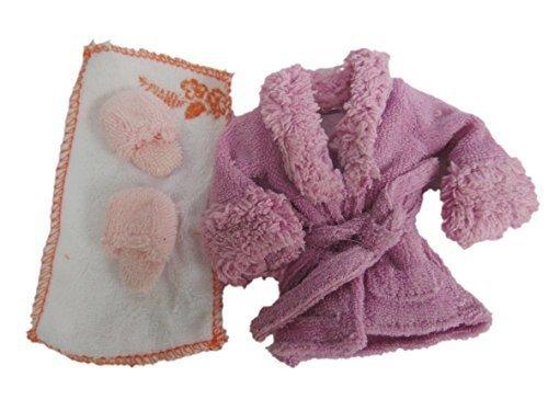 Colore: Viola, Rosa, Blu o giallo bambola Barbie Sindy-Accappatoio/vestaglia da notte, vestaglia accappatoio e pantofole &-Costume da Fat-catz-copy-catz