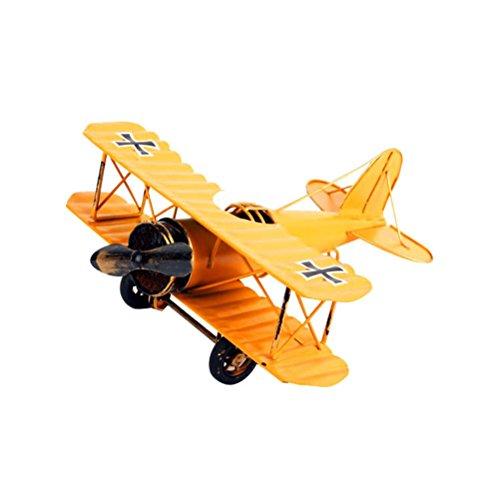 VORCOOL Vintage Airplane Model Artesanía de Metal Avión de Hierro Fo