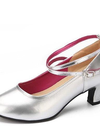 La mode moderne Non Sandales femmes personnalisables Chaussures de danse latine similicuir similicuir talons Talon Indoor noir/rouge/or/argent. US7.5/EU38/UK5.5/CN38