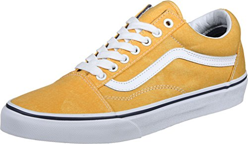 Vans Ua Old Skool, Sneakers Basses Homme Jaune (Washed Canvas Citrus/crown Blue)