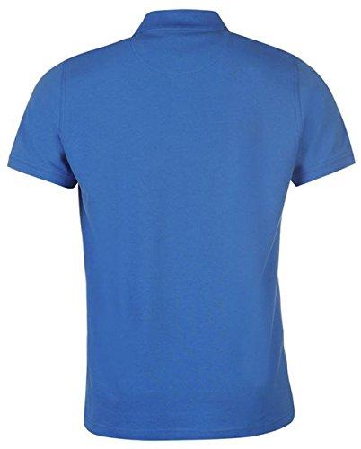 Poloshirt für Herren, kurze Ärmel, unifarben Blau