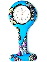 Coloured Flower Nurse Watch Brooch, Silicone with Pin/Clip, Health Care Nurse Doctor Paramedic Medical Brooch Fob Watch
