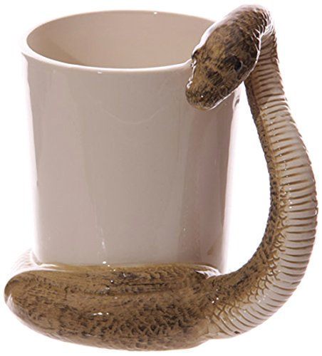 fun-snake-shaped-handle-brown-snake-ceramic-mug