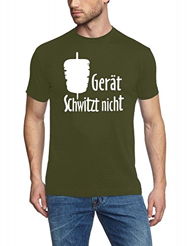 Coole-Fun-T-Shirts -  T-shirt - Uomo Vert (Verde aceituna)