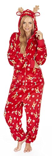 OneZee Adults Fleece Festive Christmas Onesie - 41GpghSfWWL - OneZee Adults Fleece Festive Christmas Onesie