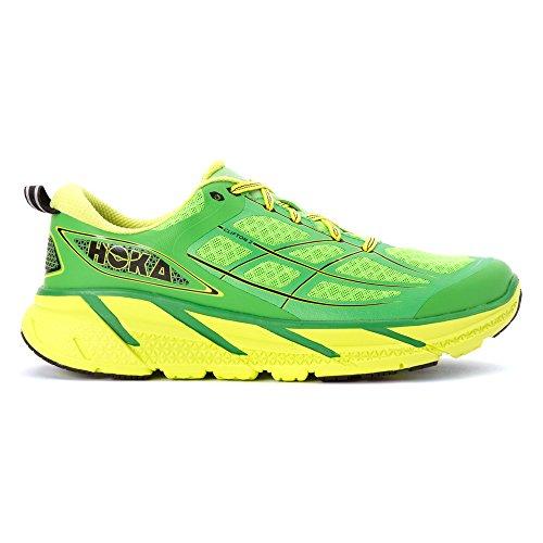 HOKA ONE ONE CLIFTON 2 VERTE Chaussures de running GREEN / ACID