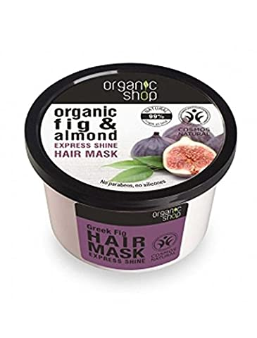 ORGANIC SHOP - Masque Figures et Amande - Pour Tous les Types de Cheveux - Action Régénérante - Protège les Cheveux - 250