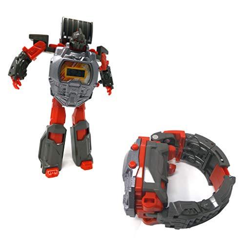Brigamo Transform Robot Kinderuhr Armbanduhr verwandelt Sich im Handumdrehen in einen Roboter (grau)
