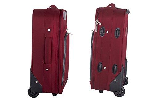 3 Maletas + 2 beauty case + bolsa de viaje PIERRE CARDIN rojo VS10