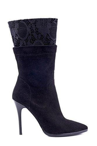 CAF NOIR socket chaussures noires PMC911 de démarrage 3/4 zip jambe daim dentelle