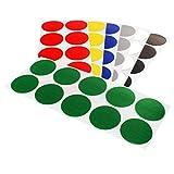 Punti adesivi colorati, punti di contrassegno in tessuto rivestiti in PE, colore e quantità selezionabili. Punti adesivi colorati, adesivo a lunga durata, etichette rotonde per identificare e contrassegnare