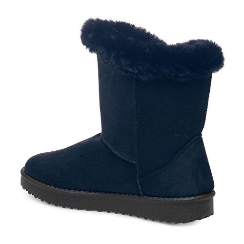 FausseFourrure DUne Modeuse Bleu Boots en La Suédinedoté FRwXX