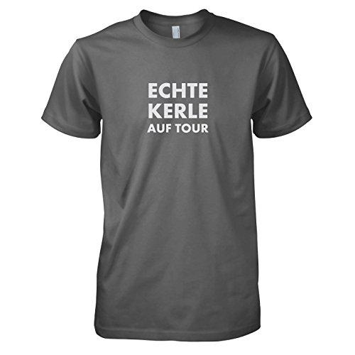 TEXLAB - Echte Kerle auf Tour - Herren T-Shirt Grau