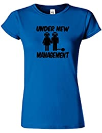 Under New Management Drôle Cerf Nuit Mariage hommes T-shirt