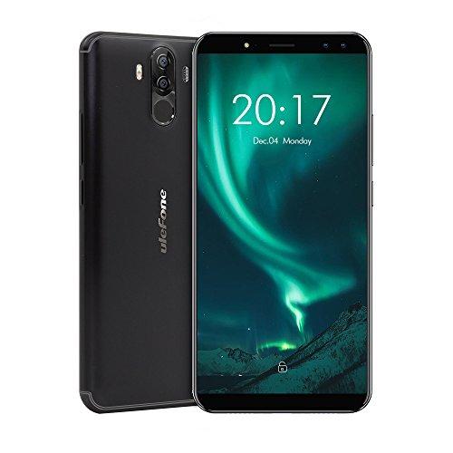Ulefone Power 3s entsperrtes Smartphone (6 Zoll FHD+ Display (18:9 Seitenverhältnis), Corning Gorilla Glas 4, Android 8.1, Octa-Core 64-bit Prozessor 2.0 GHz, 4 GB RAM, 64 GB Speicher, Quad-Kameras, Face ID & Finger ID, 3A Quick Charge) schwarz