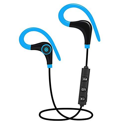 DKEyinx S553 Auriculares Deportivos inalámbricos Bluetooth v4.1, Rango de 10 m, cancelación de Ruido, Auriculares estéreo para iPhone, iPad, iPod, Reproductores MP3, tabletas y más, Color Rojo