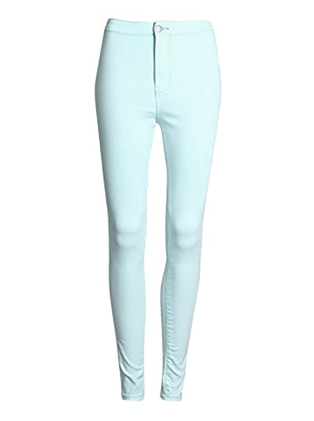 Baymate Women Stretch High Waist Skinny Pencil Pants: Amazon.co.uk: Clothing