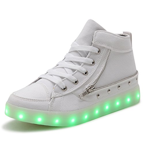 HUSK'SWARE Cowboy LED Schuhe 7 Colour USB Charging LED Bright Trainers Sportschuhe Kinder Sneakers Damen Herren Jungen Mädchen Schuhe Shoes (Dynamische Trainer Schuh)