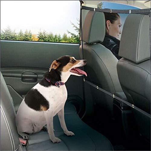 Dbtxwd 2 stücke Haustier Auto Barriere Sicherheit Mesh, Auto Reise Hund Katze Hindernis Sicherheitsnetz mit Haken und Schnüre Schwarz 45 '' x 24,5 '' -