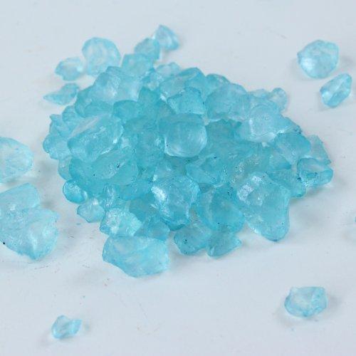 Chemiker Kostüm - Glassteine Glas Dekosteine Steine Streudeko, 4 - 10 mm Größe, 1kg im Beutel (türkis)