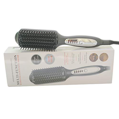 Cvthfyky Heizungs-elektrischer gerader Haar-Kamm LED-Temperatursteuerungs-negativer Ionenhaarstrecker (Farbe : Schwarz)