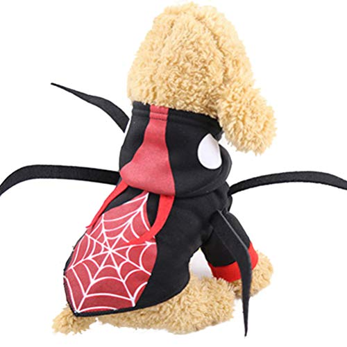 POPETPOP lustige Haustier Halloween Makeover Kleidung - kreative Phantasie Beatle Design Cosplay Hundekostüm - Halloween Party Dress-up für kleine, mittelgroße Hunde - Größe - Beatles Party Kostüm