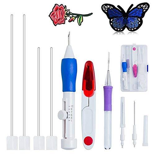 Outtybrave Magische Stickerei-Stickerei Set Stifte Stanznadel Kit Craft Tool - für Erwachsene und Kinder - tolles Geschenk für Freunde oder Familie -