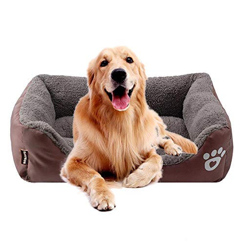 KOBWA Cama ortopédica para Perro, de Felpa Premium Impermeable, para Perros y...