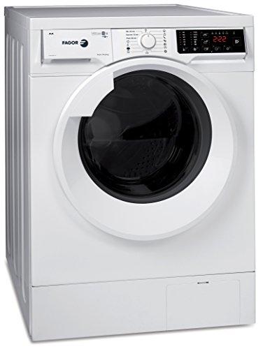 Fagor Waschtrockner Frontlader der Premiumklasse/1400 U/min /8 kg Waschen 5 kg Trocknen/ Waschmaschine und Trockner in 1 Gerät/ Display / VariScan Technologie/ 13 Waschprogramme 2 Trocknungsprogramme / Effi-Silent Technologie/ Spezialprogramme für dunkle Kleidung und Hemden/Spanischen Luxus Herstellers Fagor