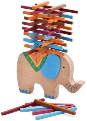 treasure-house Wooden Puzzle Stacking Building Blocks Balance Board Board Board Table Game Elephant Balancing Toy Educational Gift For Kids | Coût Modéré  6b9374