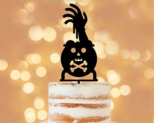 Halloween Zombie, Halloween Schilder, Halloween Tortenaufsatz, lustige Kuchen Topper, Einzigartige Kuchen Topper, Halloween Ideen, Halloween Party Idee, Schild