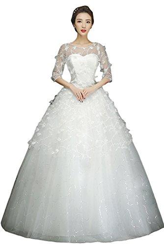 Ivydressing Romantisch Lang Steine Abendkleider Brautkleider Hochzeitskleider Stil-K