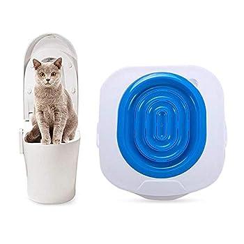 Kobwa Litière kit de formation, le meilleur pour animal domestique Réducteur de toilette, bac pour animal domestique Kitty Pot kit de système de train avec Step by Step Guide de formation (Bleu)