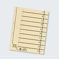 Falken 80001845 - Separadores para archivador (A4, perforados, 100 unidades, color beige)