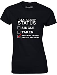 Brand88 - Mentally Dating Garrus Vakarian, Ladies Printed T-Shirt