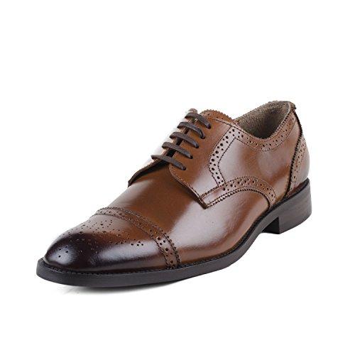 Cordonnier Tan Cap Toe Brogues-Size 7 Men's Leather Shoes