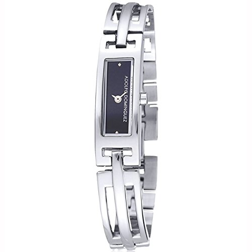 Adolfo Dominguez Watches 69020 - Reloj de Señora Cuarzo Brazalete metálico dial Negro