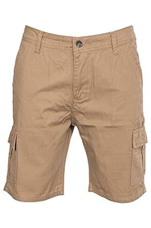 Hommes Coton Combat Toile Chino Shorts Bermudas Taille 46 48 50 52 54 (Taille 100 Centimètre, Chameau)