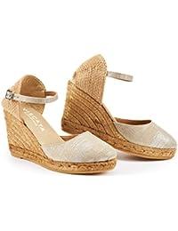 fe09639c8fe9f8 Amazon.co.uk  Silver - Espadrilles   Women s Shoes  Shoes   Bags