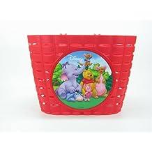 Kinderkorb Winnie the Pooh - rot - mit Lenkerbefestigung ~ für Kinder Fahrrad