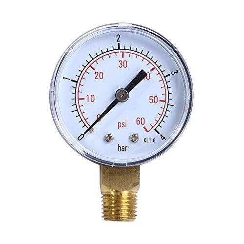 piscine Spa filtre Jauge de pression de l'eau PSI Fixation latérale 1/10,2 cm pouces Pipe Filetage