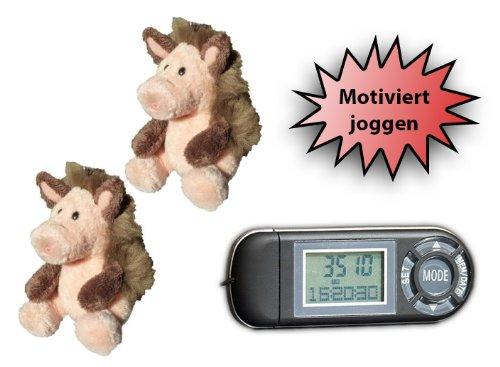 """Sportler-Set-Angebot: """"Motiviert Joggen"""" (Pedometer60 + 2x WABi-Schlüsselanhänger)"""