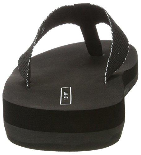 Esprit Neva Thongs, Tongs Femme Noir (001 Black)