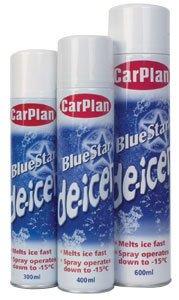 Qualità CarPlan stella blu auto Deghiacciante spray 600ml x 1Tin:-) - 1 De Icer