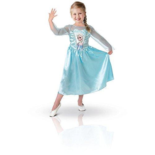 faschingskostuem eiskoenigin elsa Rubie's 3 889542 M - Elsa Classic, Frozen Kostüm, Größe M, hellblau
